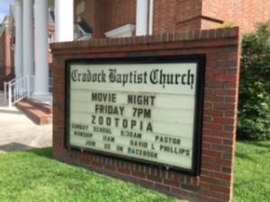 Movie Night sign 071316